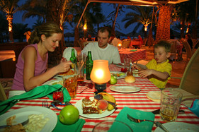 restaurant en famille