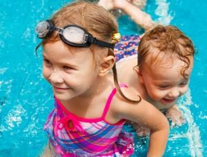 piscine en famille