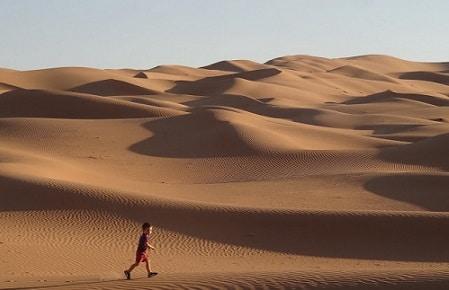 voyage en famille désert