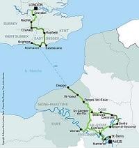 itinéraires vélo - Paris-Londres
