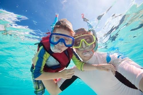 Snorkeling en famille
