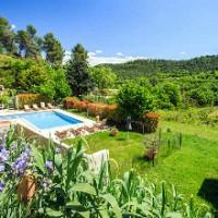 Oustaou du Luberon piscine jardin