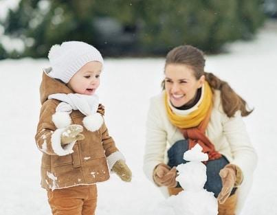 ski avec un enfant