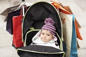 shopping avec bébé
