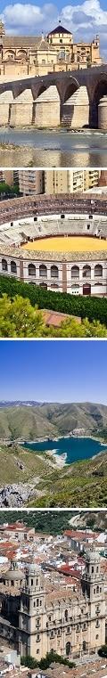 Cordoue, Plaza de toros - Ronda, Sierra Nevada, Jaen