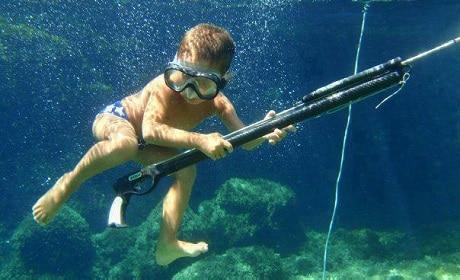 enfant pêche