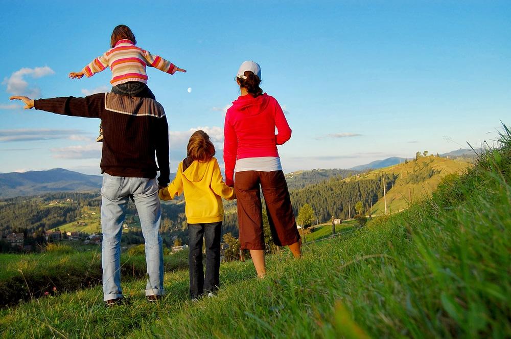 randonnée en famille