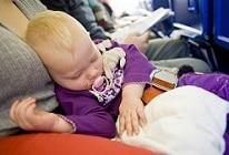 Enfants en avion