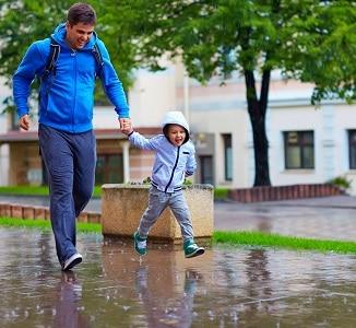 famille pluie