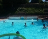 piscine extérieure chauffée camping Anneyron