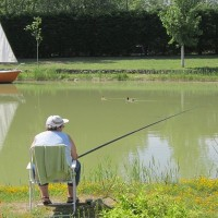 2013- plan d-eau Pêcheur au domaine Le Jardin du Marais